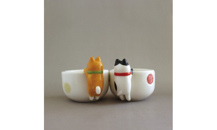 (現貨)【日本DECOLE】柴犬小茶杯/清酒杯