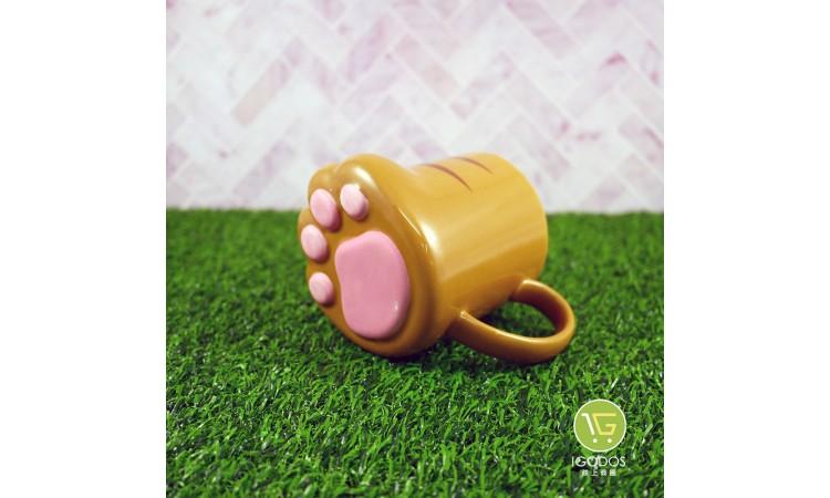 (現貨)【日本sunart】虎貓肉球貓掌杯